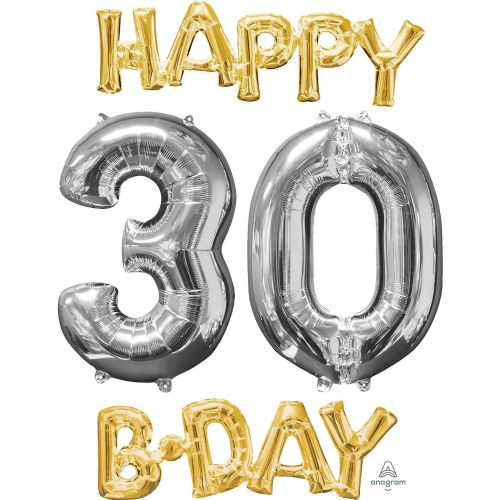 """Happy 30 B-Day"" Phrase & Number Bunch"